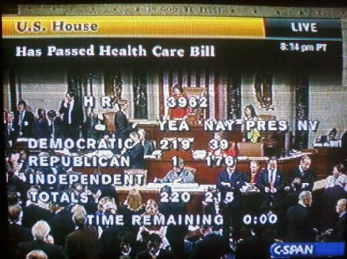 Healthcare Passes US House